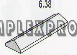 Крышка  прямоугольная 6.38 (50х350х150)